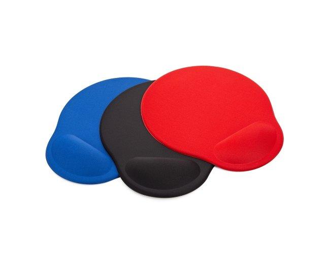Mouse Pad ergonômico de neoprene com apoio para o punho de espuma.