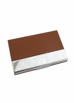Porta Cartão de Couro e Metal 12807